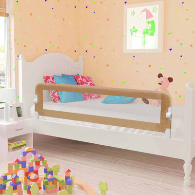 vidaXL Toddler Safety Bed Rail Taupe 150x42 cm Polyester