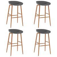 vidaXL Bar Chairs 4 pcs Grey