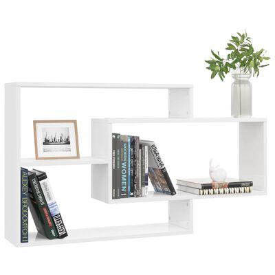 vidaXL Wall Shelves High Gloss White 104x20x58.5 cm Chipboard