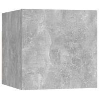 vidaXL Bedside Cabinet Concrete Grey 30.5x30x30 cm Chipboard