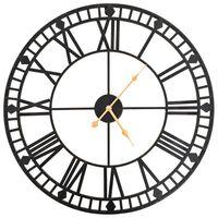 vidaXL Vintage Wall Clock with Quartz Movement Metal 60 cm XXL