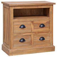 vidaXL Side Cabinet 60x30x60 cm Solid Teak