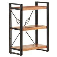 vidaXL 3-Tier Bookcase 60x30x80 cm Solid Acacia Wood