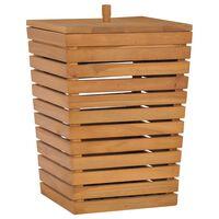 vidaXL Laundry Basket 30x30x45 cm Solid Teak Wood