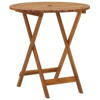 vidaXL Folding Garden Table 70 cm Solid Acacia Wood