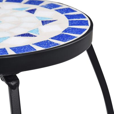 vidaXL Mosaic Tables 3 pcs Blue and White Ceramic