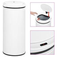 vidaXL Automatic Sensor Dustbin 80 L Carbon Steel White