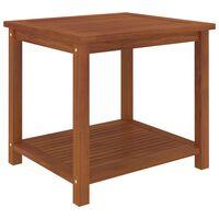 vidaXL Side Table Solid Acacia Wood 45x45x45 cm