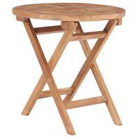 vidaXL Folding Garden Table 45 cm Solid Teak Wood