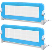 vidaXL Toddler Safety Bed Rail 2 pcs Blue 102x42 cm