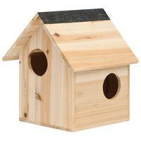 vidaXL Squirrel House Solid Firwood 26x25x29 cm