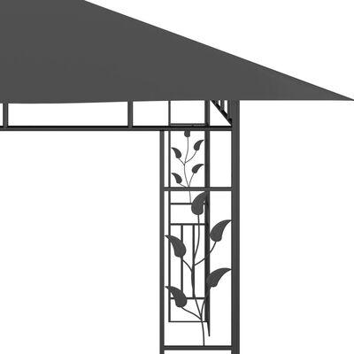 vidaXL Gazebo with Mosquito Net 4x3x2.73 m Anthracite 180 g/m²