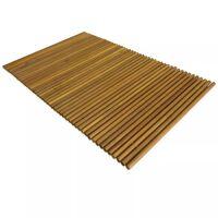 vidaXL Bath Mat Acacia Wood 80x50 cm