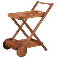 vidaXL Tea Trolley Solid Acacia Wood