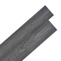 vidaXL Self-adhesive PVC Flooring Planks 5.02 m² 2 mm Black and White