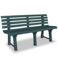 vidaXL Garden Bench 145,5 cm Plastic Green