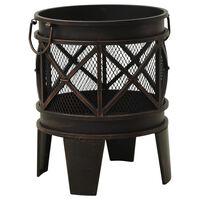 vidaXL Rustic Fire Pit with Poker Φ42x54 cm Steel