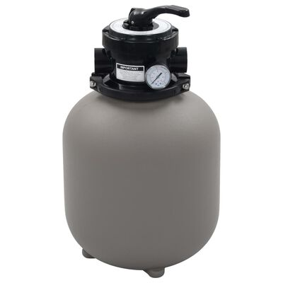 vidaXL Pool Sand Filter with 4 Position Valve Grey 350 mm