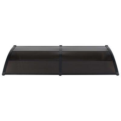 vidaXL Door Canopy Black 240x100 cm PC