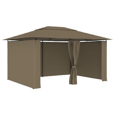 vidaXL Garden Marquee with Curtains 4x3 m Taupe 180 g/m²