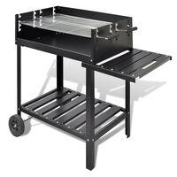 vidaXL BBQ Stand Charcoal Barbecue 2 Wheels