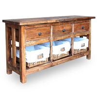 vidaXL Sideboard Solid Reclaimed Wood 100x30x50 cm