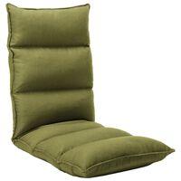 vidaXL Folding Floor Chair Green Fabric