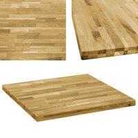 vidaXL Table Top Solid Oak Wood Square 44 mm 80x80 cm