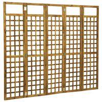 vidaXL 5-Panel Room Divider/Trellis Solid Acacia Wood 200x170 cm