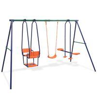 vidaXL Swing Set with 5 Seats Orange