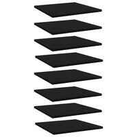 vidaXL Bookshelf Boards 8 pcs Black 40x40x1.5 cm Chipboard