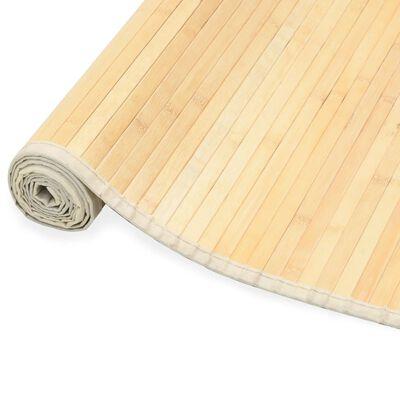 vidaXL Rug Bamboo 100x160 cm Natural