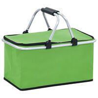 vidaXL Foldable Cool Bag Green 46x27x23 cm Aluminium