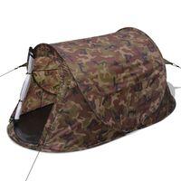 vidaXL 2-person Pop-up Tent Camouflage