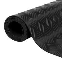 Rubber Floor Mat Anti-Slip 5 x 1 m Checker Plate