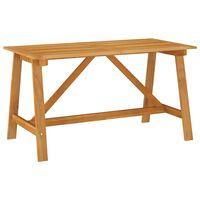 vidaXL Garden Dining Table 140x70x73.5 cm Solid Acacia Wood