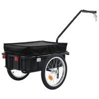 vidaXL Bike Cargo Trailer/Hand Wagon 155x61x83 cm Steel Black
