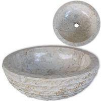 vidaXL Basin Marble 40 cm Cream