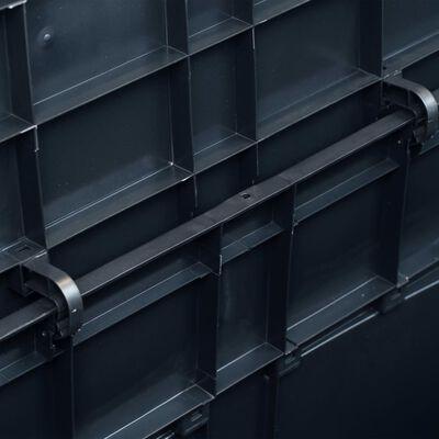 vidaXL Garden Storage Box 320 L Black
