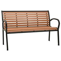 vidaXL Garden Bench 125 cm Steel and WPC Black and Brown