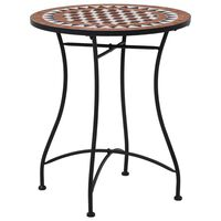 vidaXL Mosaic Bistro Table Brown 60cm Ceramic