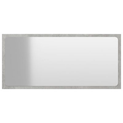 vidaXL Bathroom Mirror Concrete Grey 80x1.5x37 cm Chipboard