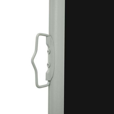 vidaXL Patio Retractable Side Awning 100x300 cm Black