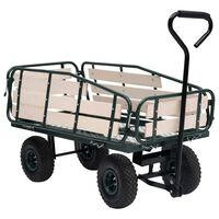 vidaXL Garden Hand Trolley Metal and Wood 250 kg