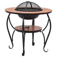 vidaXL Mosaic Fire Pit Table Terracotta 68 cm Ceramic