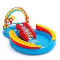 Intex Inflatable Pool Rainbow Ring Play Center 297x193x135 cm