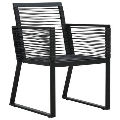 vidaXL Garden Chairs 2 pcs Black PVC Rattan
