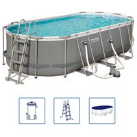 Bestway Power Steel Swimming Pool Set Oval 549x274x122cm