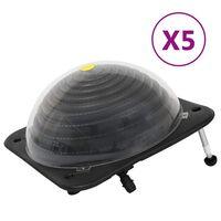 vidaXL Solar Pool Heaters 5 pcs 75x75x36 cm HDPE Aluminium
