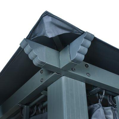 vidaXL Gazebo with Curtain 400x300 cm Anthracite Aluminium